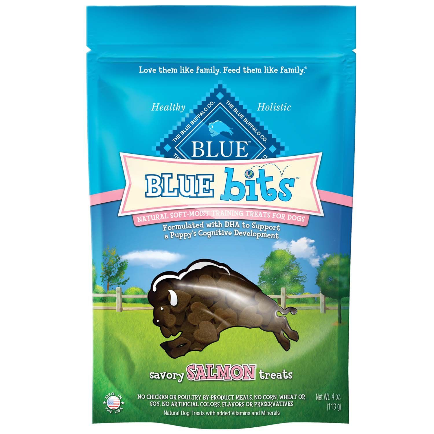 Blue Buffalo Blue Bits Savory Salmon Soft Moist Training Dog