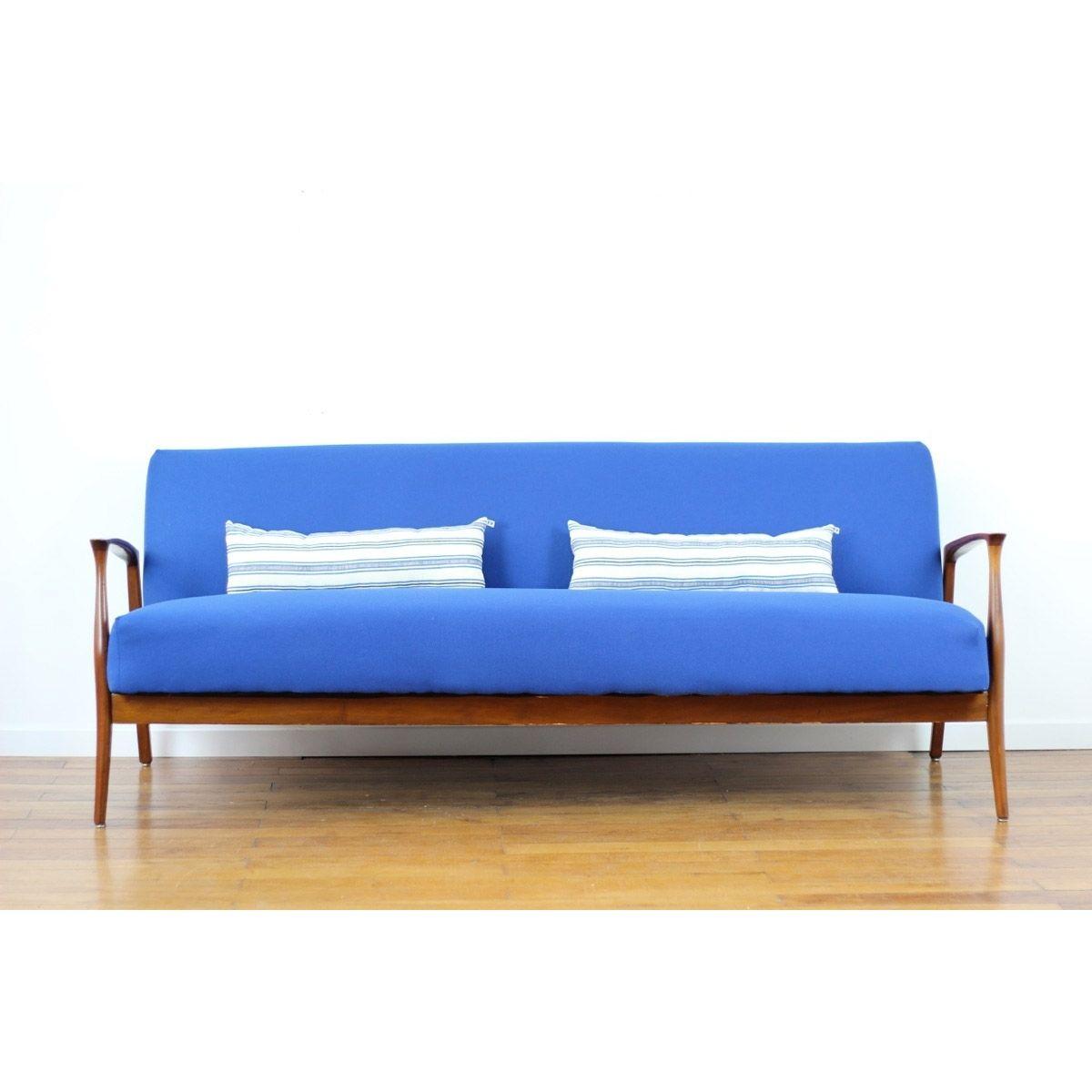 Canapé convertible vintage bleu indigo | home | Pinterest | Sofa ...