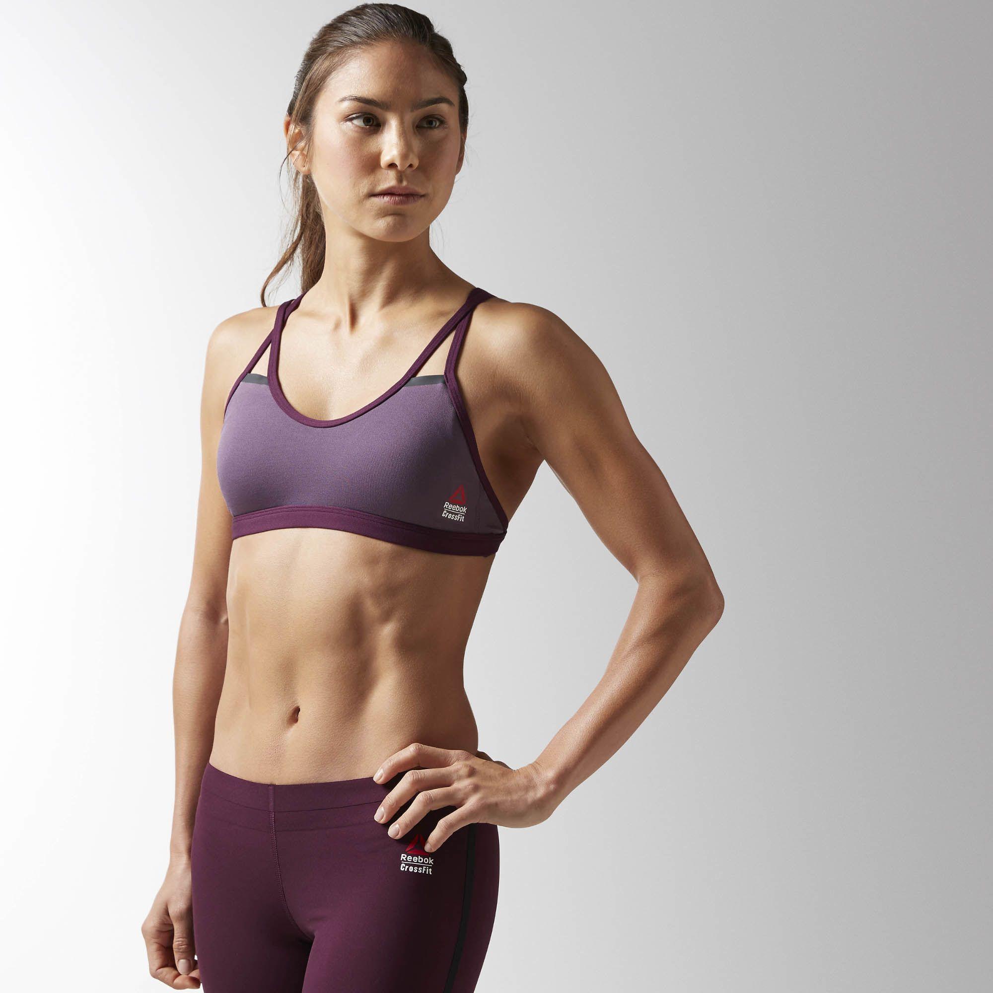 cd229ca13b2 Reebok - Reebok CrossFit Skinny Double Strap Sports Bra