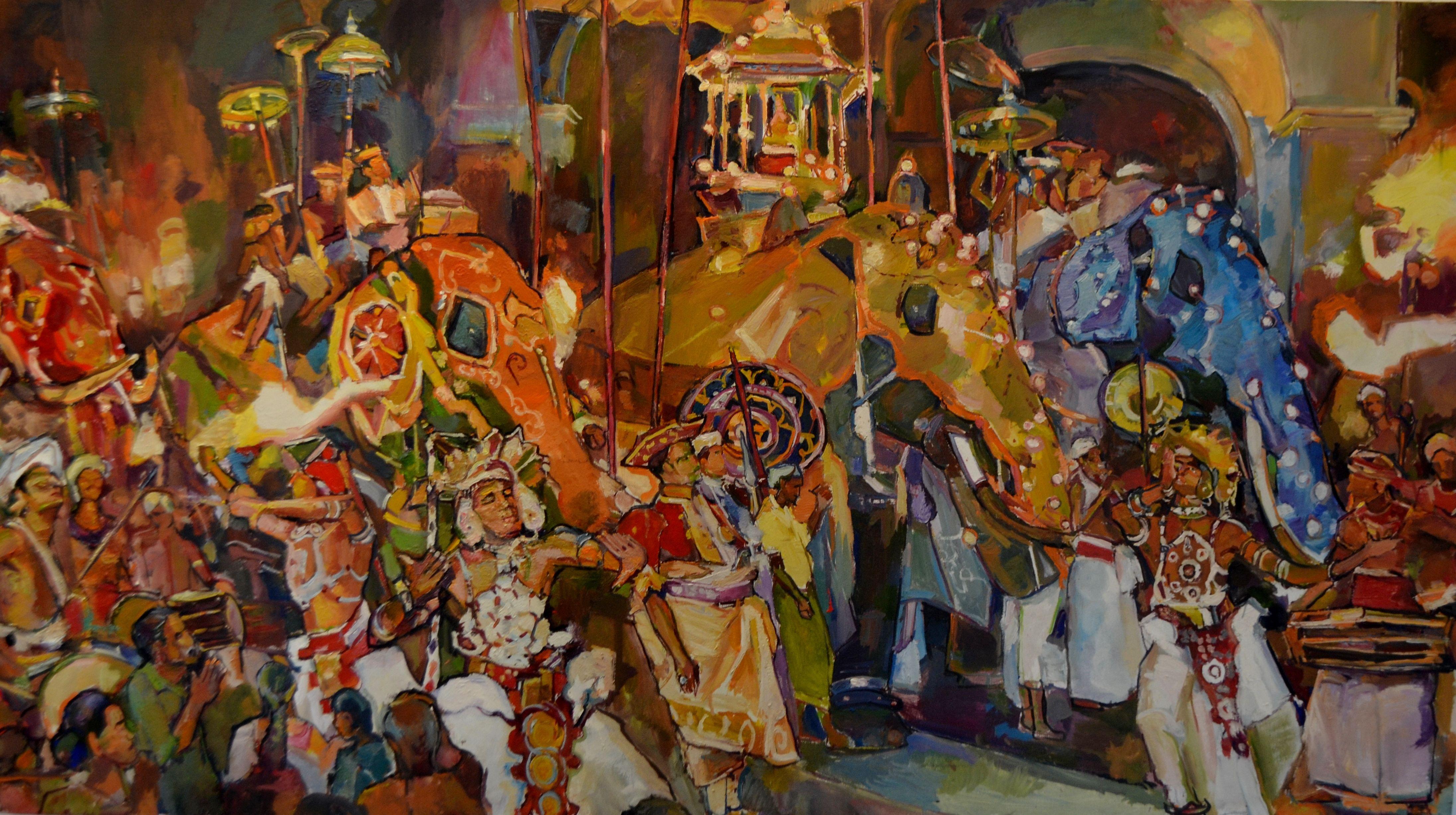 Kandy Perahera Paintings