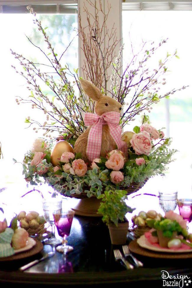 Spring Easter Tablescape Design Dazzle Easter Flower Arrangements Spring Easter Decor Easter Flowers