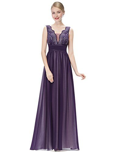 HE08019PP14 Purple 12US Ever Pretty Wedding Guest Dresses For Fall 08019