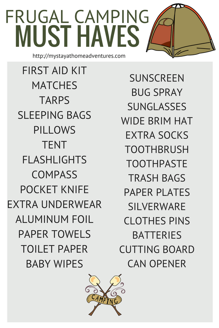 Photo of Free frugal camping must haves printable available here for free.