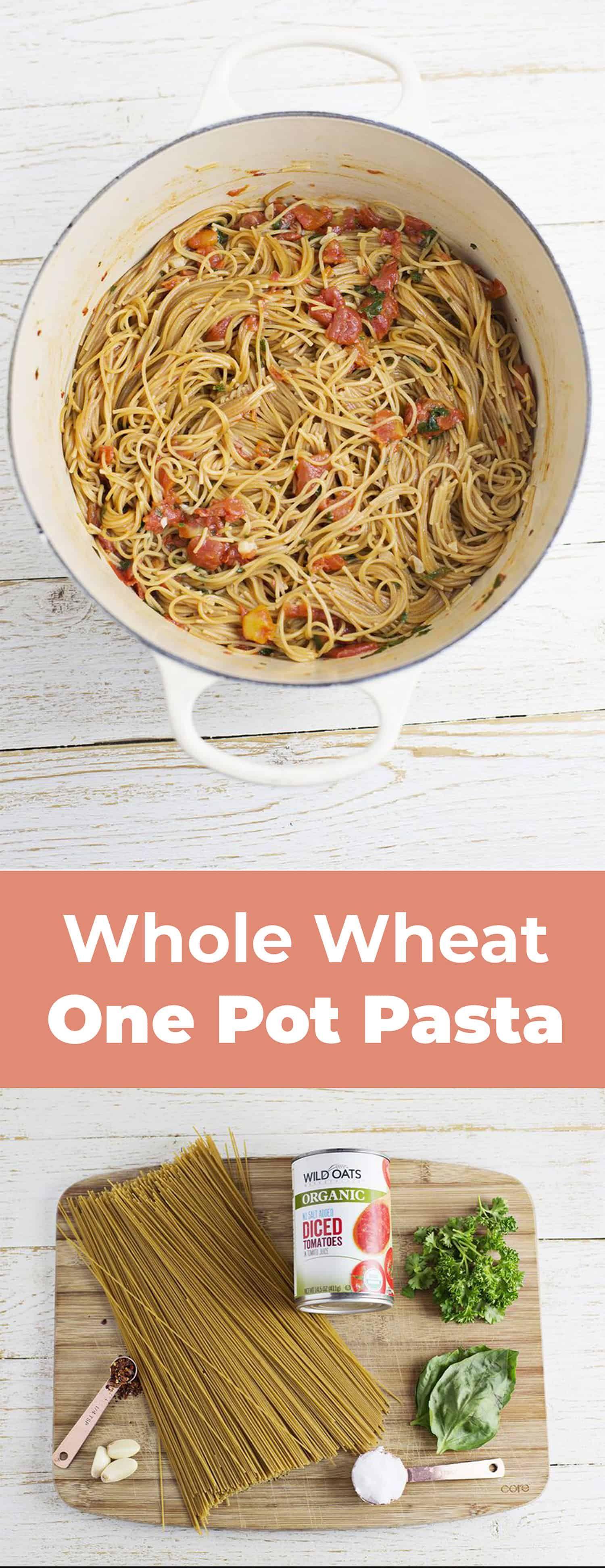 whole wheat one pot pasta meal ideas one pot pasta wheat pasta recipes pasta pinterest