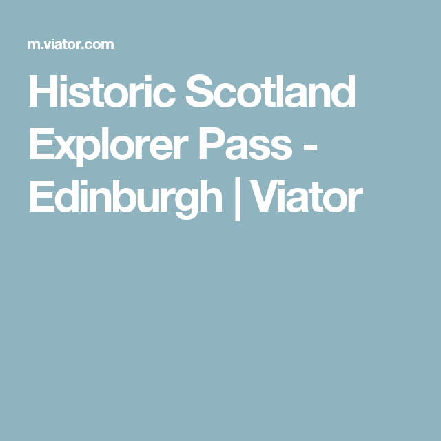 explorer pass scotland