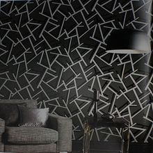Free shipping Geometry abstract wallpaper fashion modern brief tv sofa background wallpaper(China (Mainland))