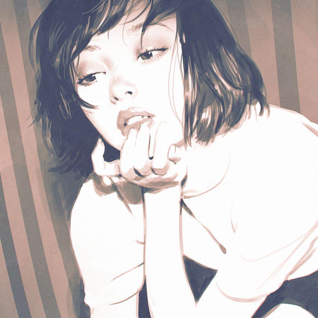 落書き illustrations pinterest illustration girl manga