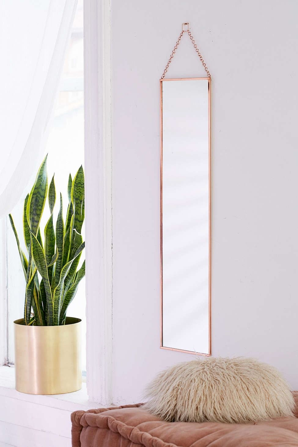 Annika full length hanging mirror hanging mirrors urban for Long length mirrors for walls