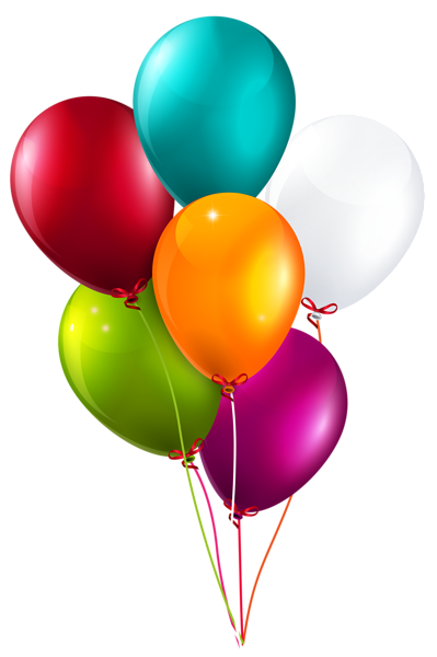 Colorful Balloons Bunch Large Png Clipart Image Birthday Balloons Clipart Colourful Balloons Balloons