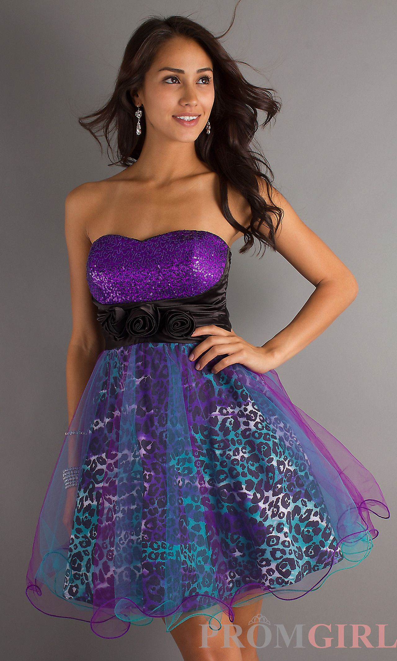 I feel like if Lisa Frank made a prom dress, this would be it, haha ...