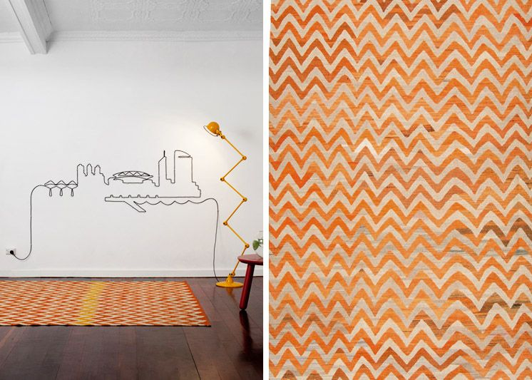 Superb Est Magazine | Loom Rugs | Old Yarn Kilim Orange
