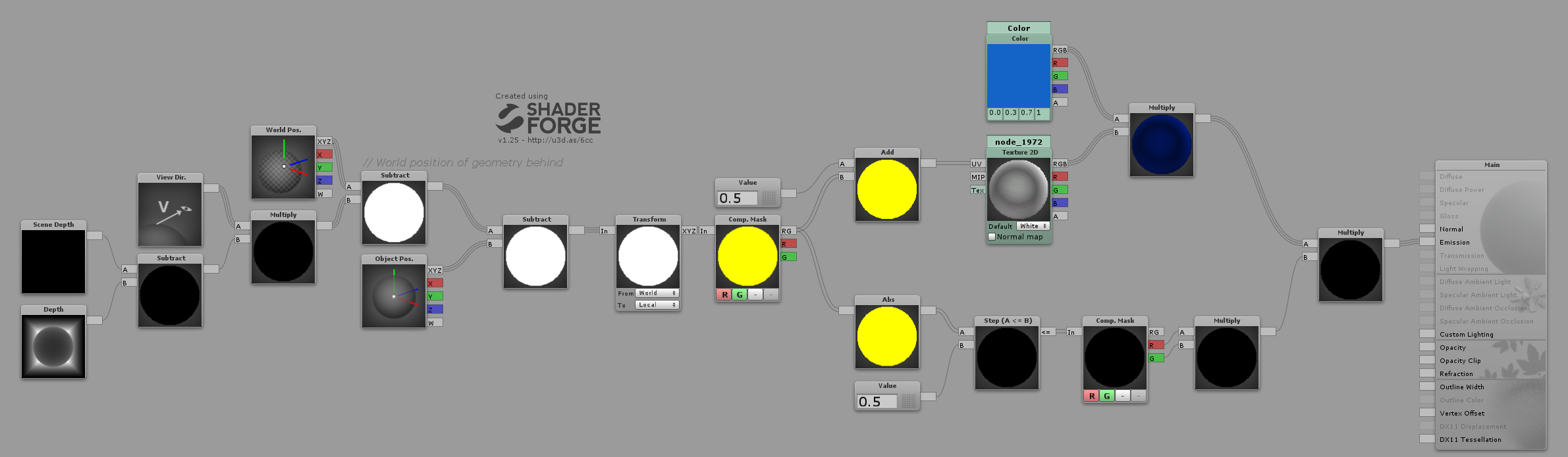 Unity Projector Shader (Requires Camera Depth Pass