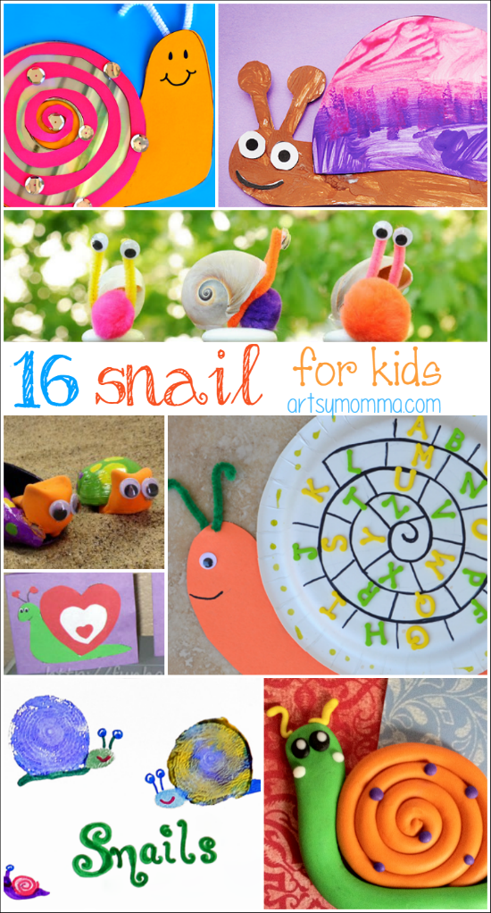 16 Silly Snail Crafts for kids of all ages | Kindergarten ...