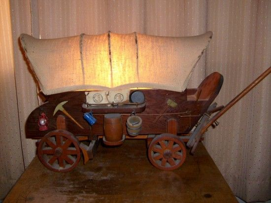 The Allee Willis Museum of Kitsch » Covered Wagon Lamp | make some ...