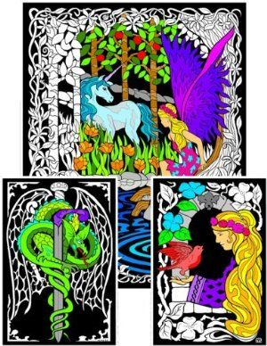 Fairy Unicorn - 23x20 Fuzzy Velvet Coloring Poster by ...