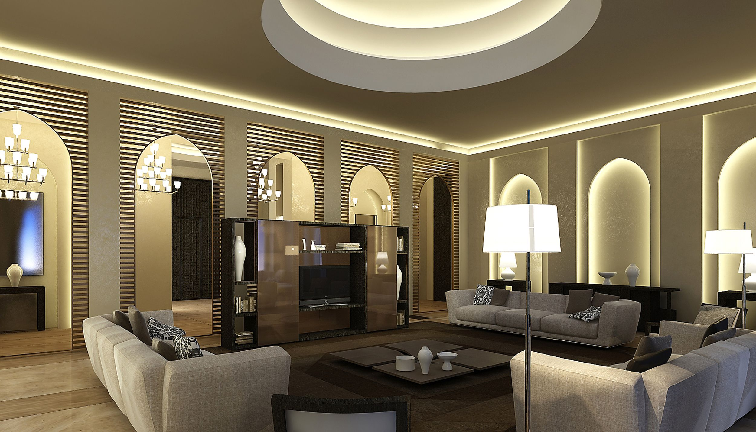 International Interior Design Private Villa Abdul Aziz Al Ghurair Dubai Living Room