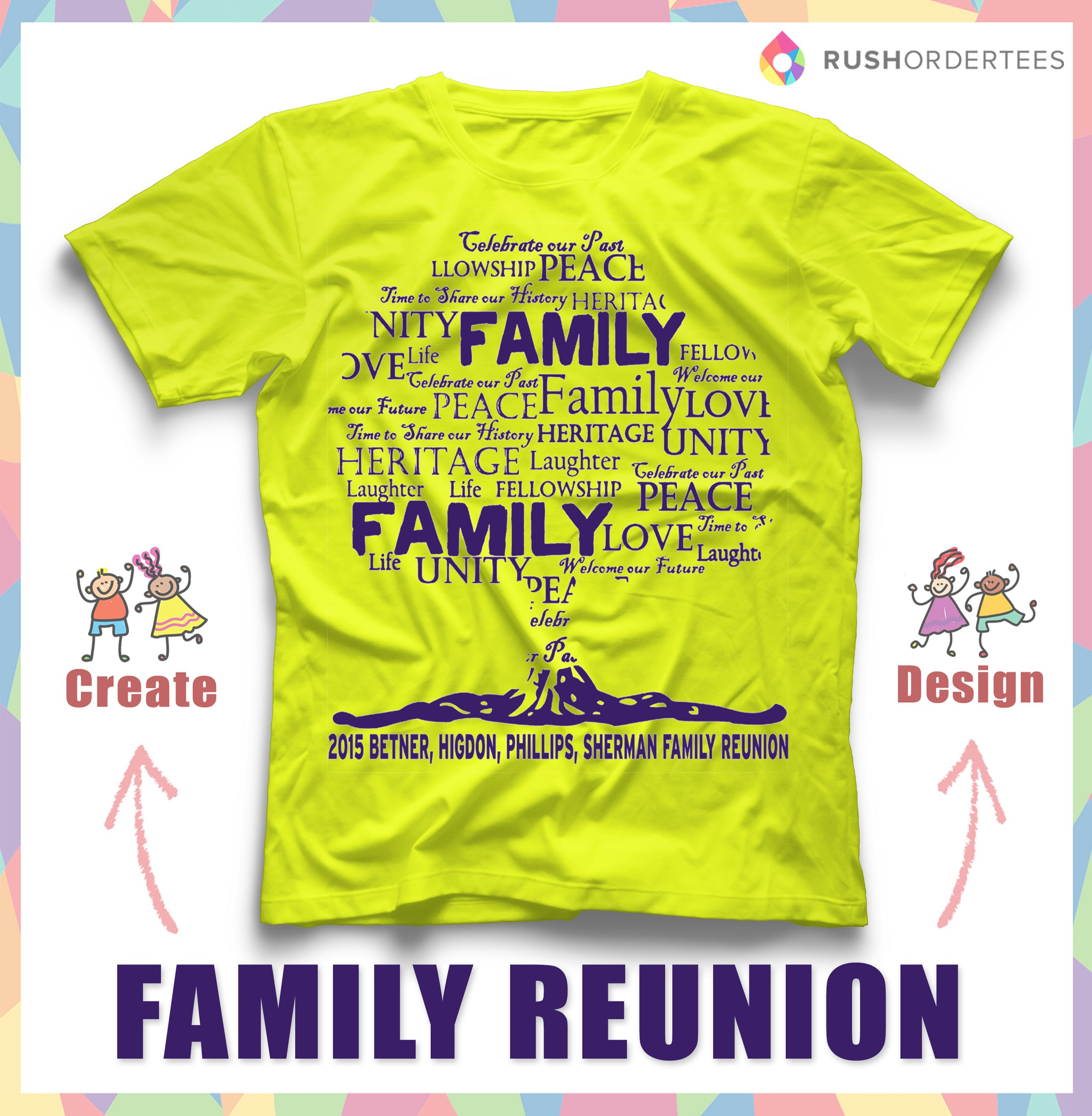 Family Reunion Shirt Design Ideas customizable family reunion shirt design Family Reunion T Shirt Ideas Create Your Custom Family Reunion T Shirt For