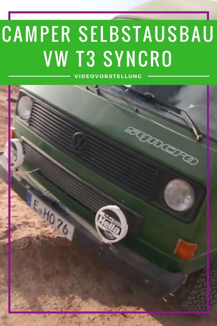 VW T3 Syncro - Selbstausbau zum Camper für Langzeitreise | Vw t3 ...