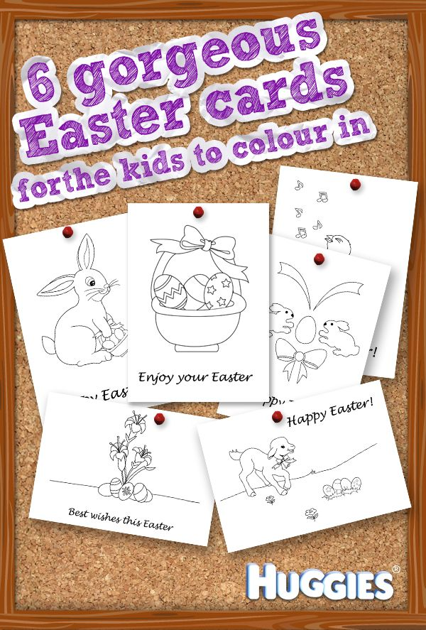 print an easter card and give it to the kids to colour in - Cards For Kids To Color
