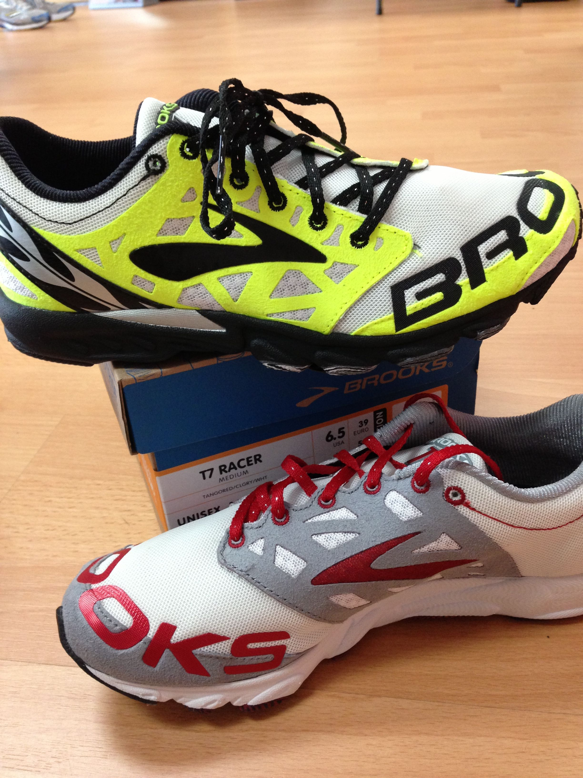 8888b02574d Brooks T7 Racer. I have a running partner who wears these till the have  holes