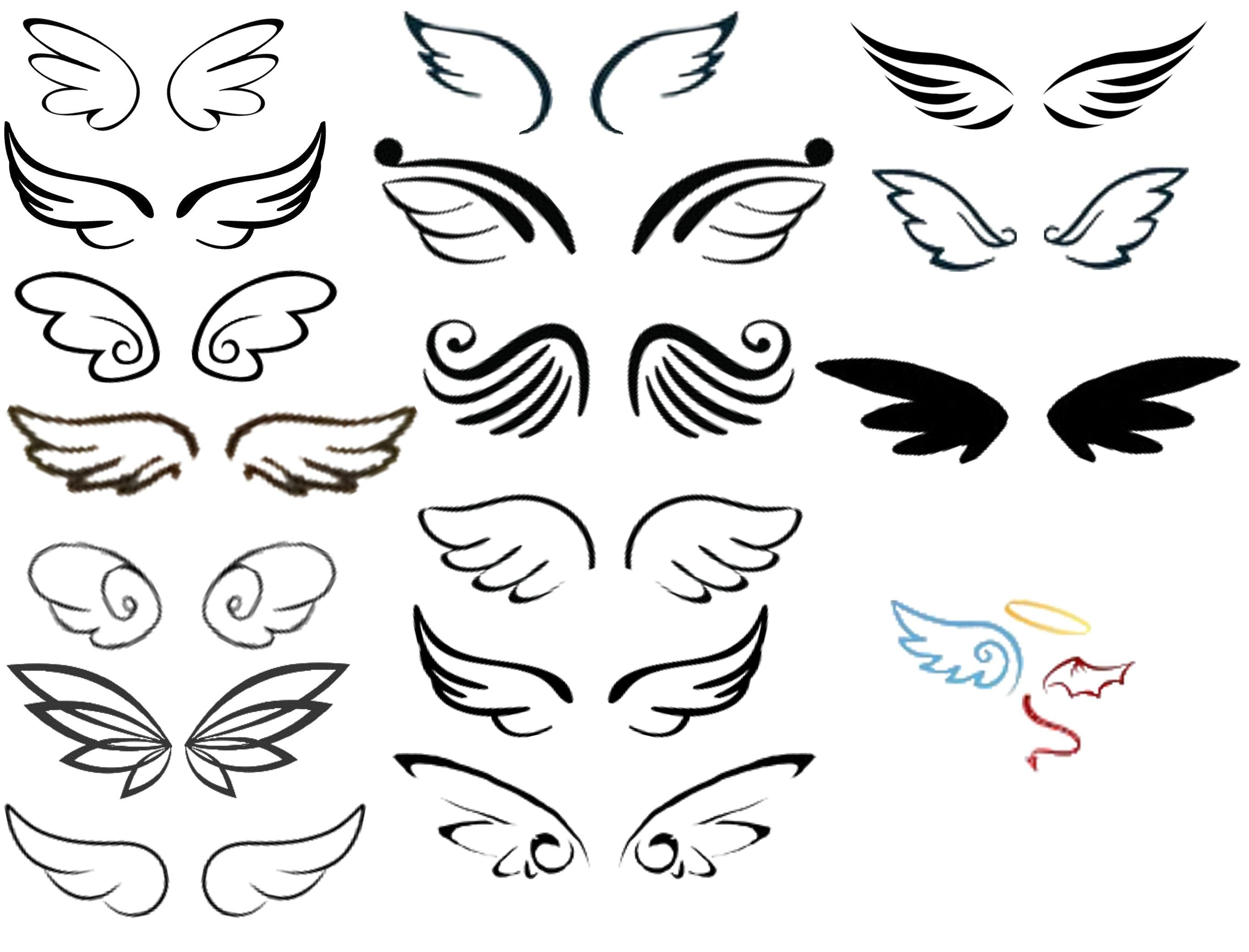 Angel Wings Tattoo Small Simple: Wing Pairs I Made From All Choices So Far I Saw And Let's