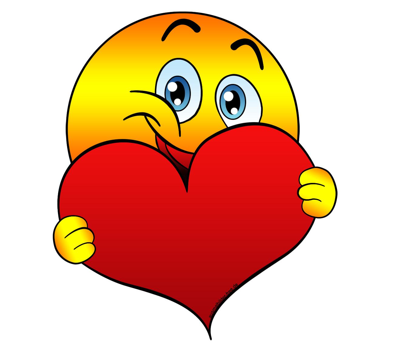 Картинки смайлики с сердечками