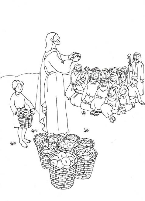 jesus miracles coloring pages