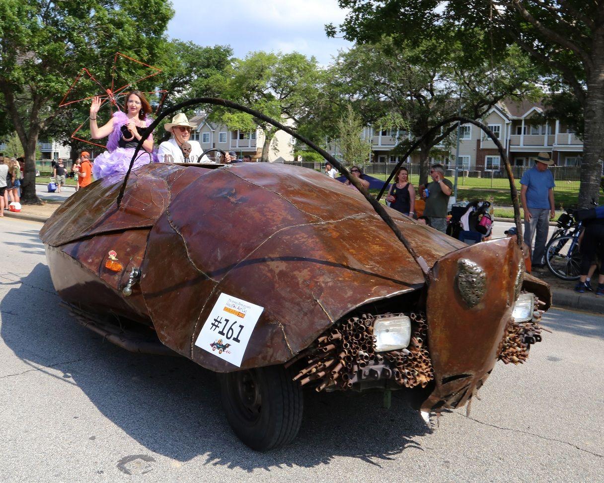 Roach car in the Houston Art Car Parade. Photograph ...
