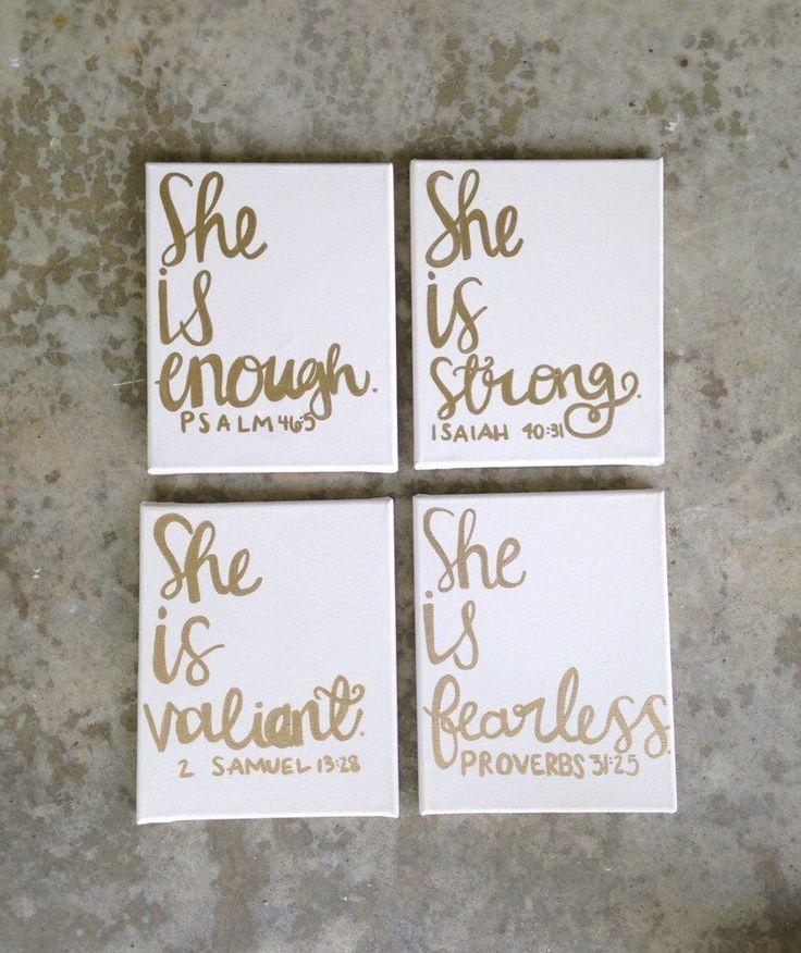 Nursery Canvas Signs/ Girl Nursery Signs/ Bible Verse