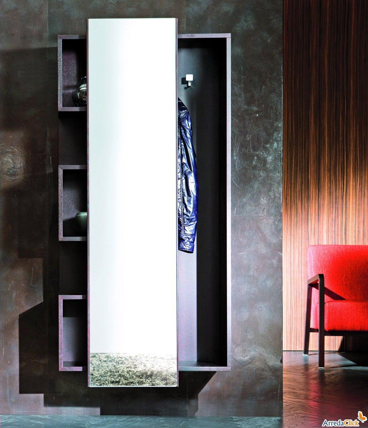 Mobile da ingresso con specchio scorrevole welcome arredaclick home living room nel 2019 - Specchio con mensola per ingresso ...
