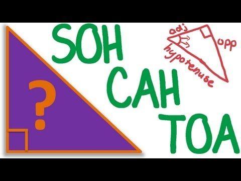 maths tutorial trigonometry soh cah toa trigonometric ratios  &