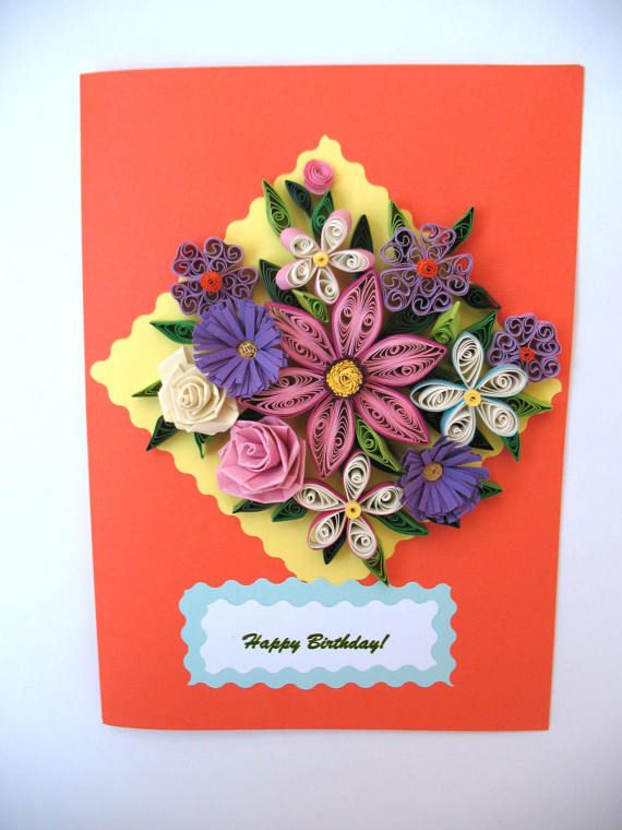 Free Shipping This Is A Beautiful Homemade Quilled Card With