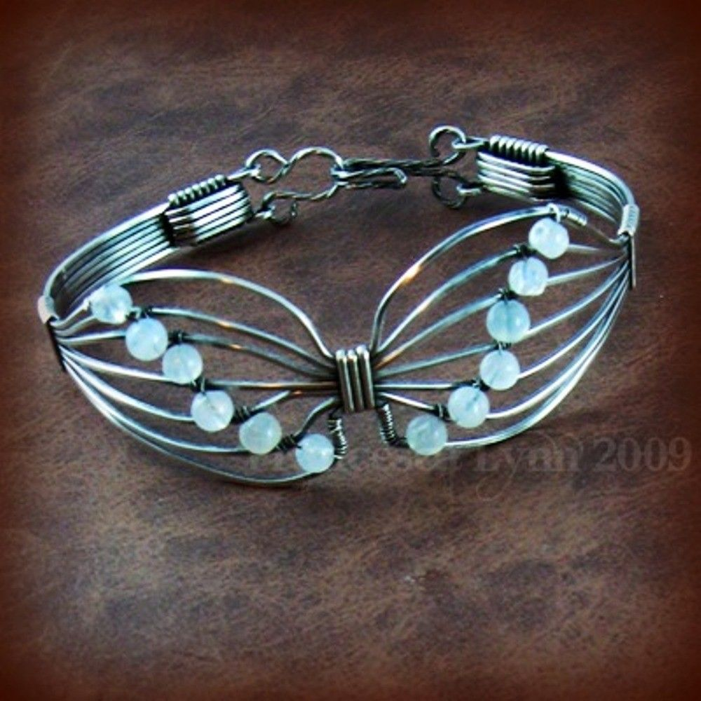 TUTORIAL - Butterfly Wire Wrapped Bracelet | Wire Tutorials ...