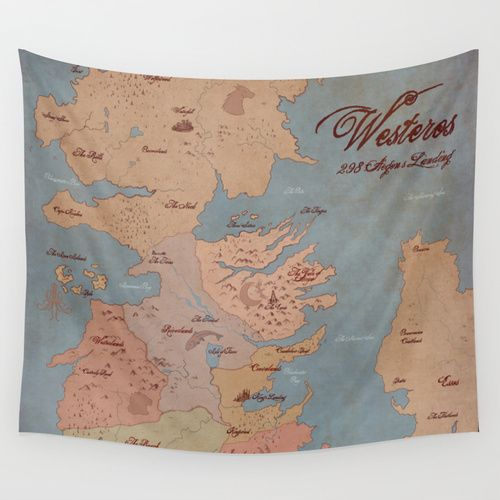 westeros game of thrones map wall tapestry