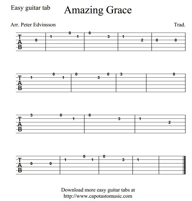 Guitar Chord Tabs: Good Easy Guitar Tabs!! …