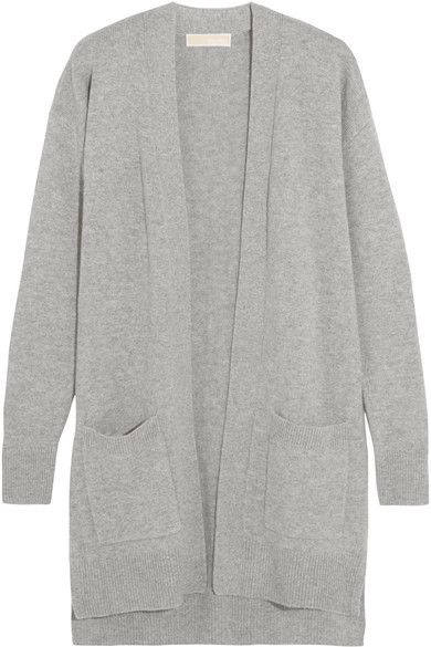 d96d89c81834 MICHAEL Michael Kors - Merino Wool And Cashmere-blend Cardigan - Gray