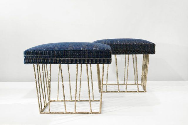 Cage stool sit pinterest stools ottomans and for Ottoman to sit on