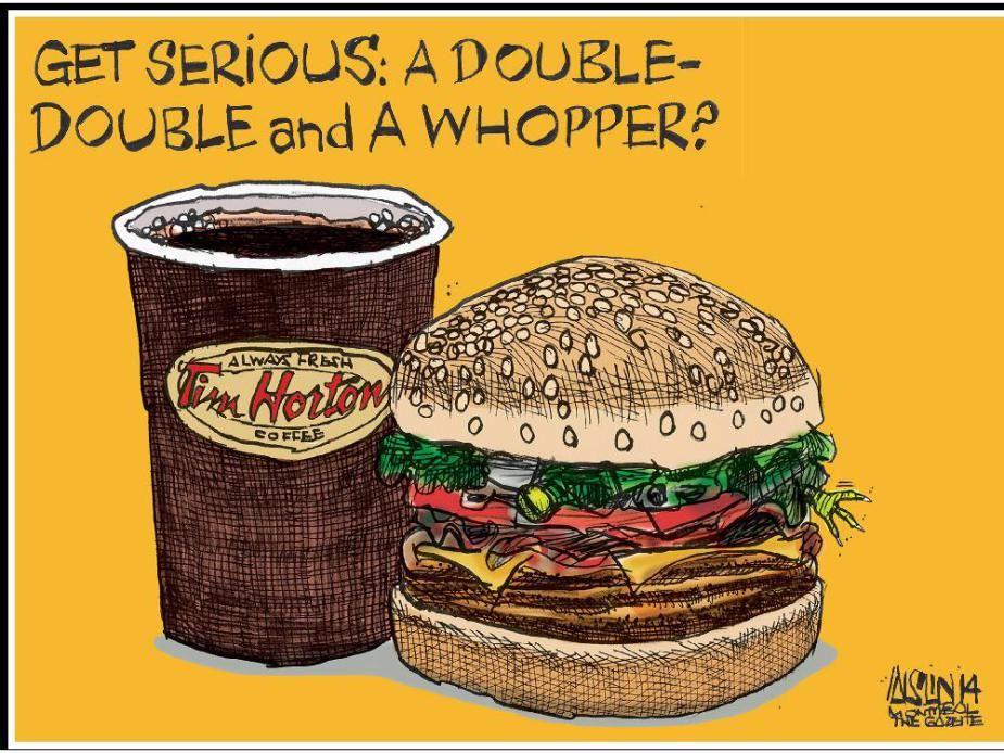 Editorial cartoons Tim hortons coffee, Tim hortons, Cartoon