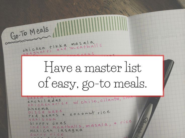 bullet journal go to meal - Google Search