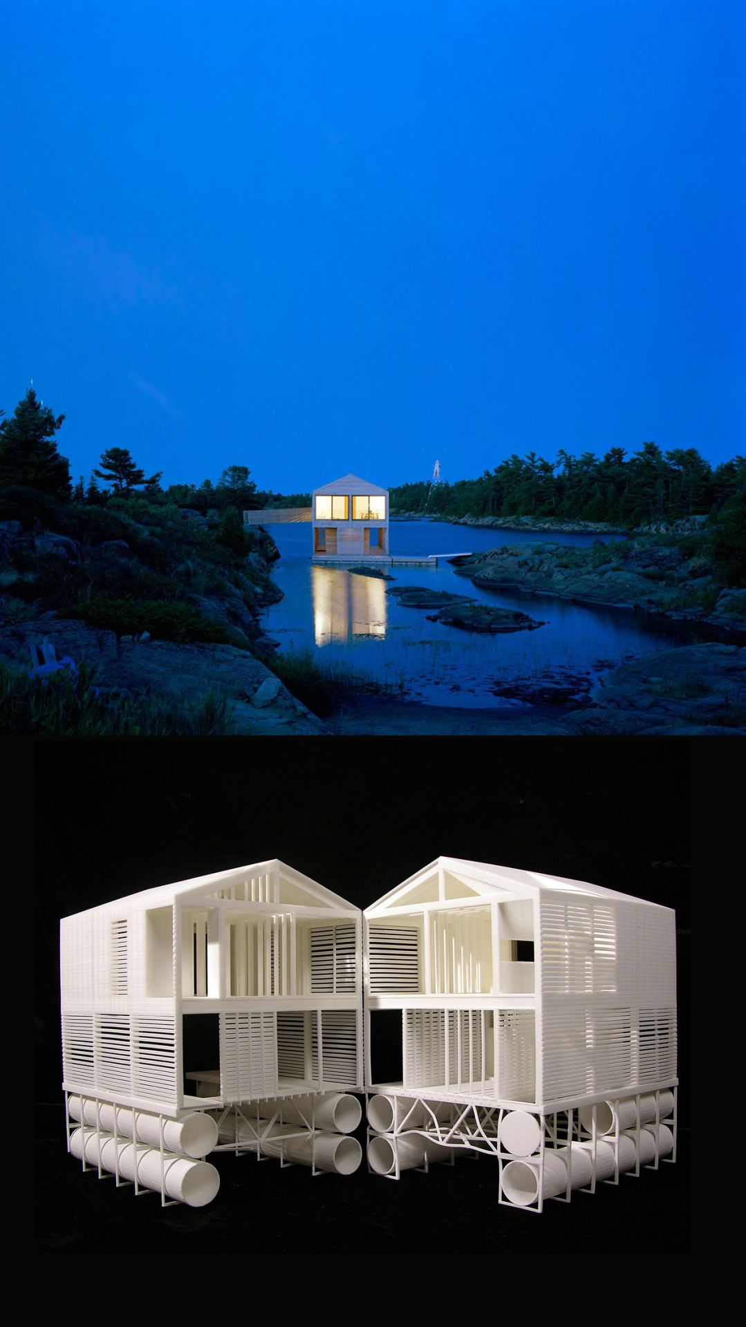 Attractive Architecture · MOS Architects, Floating House, 2005, Lake Huron.
