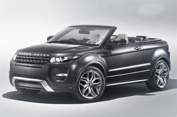 Range Rover Evoque convertible concept car.   Looks like a chubby shoe!