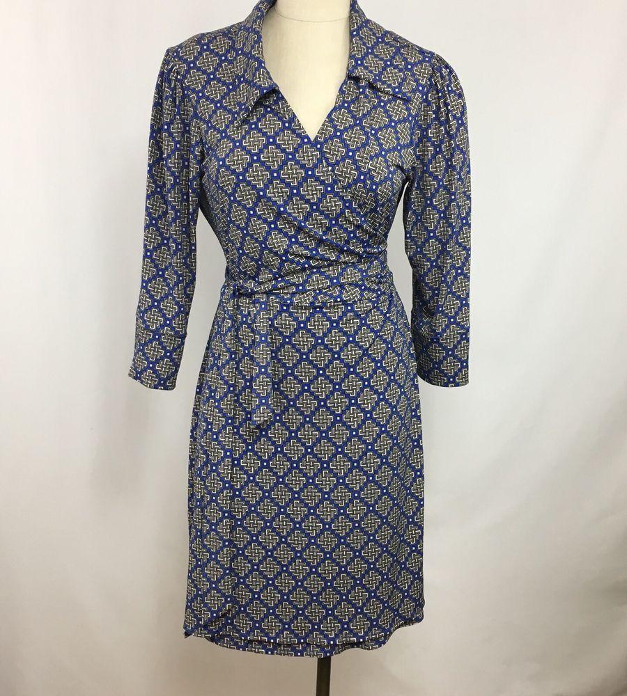 Laundry by shelli segal womenus wrap dress size xl abstract print