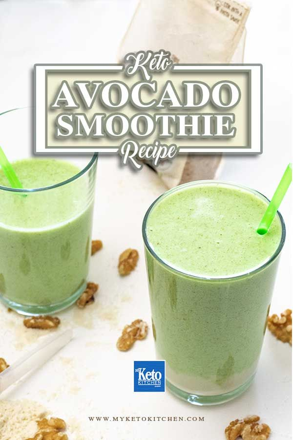 Keto Avocado Smoothie Peanut Butter Amp Collagen Low