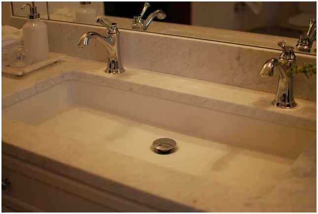 Trough Sink Bathroom Double Faucet | bathroom stuff | Pinterest ...