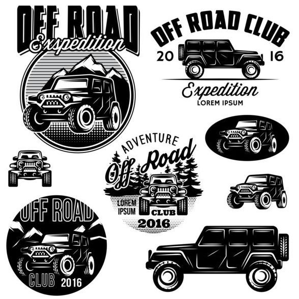 Off Road Club Loghi Creativi Vettoriale Business Cards Vector