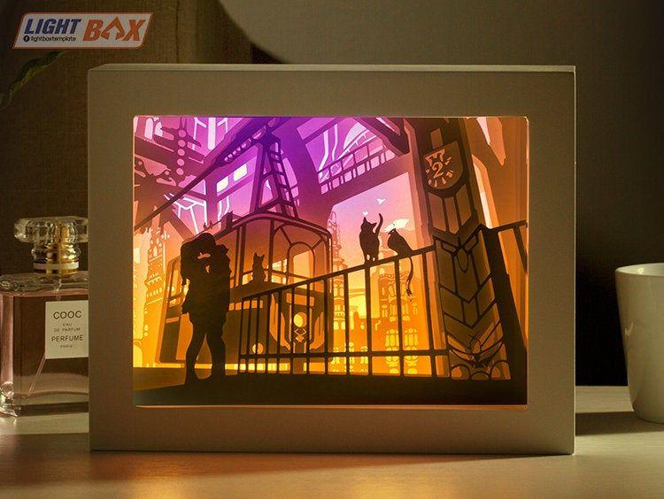 Ghim Tren Paper Cut Light Box Teamplate