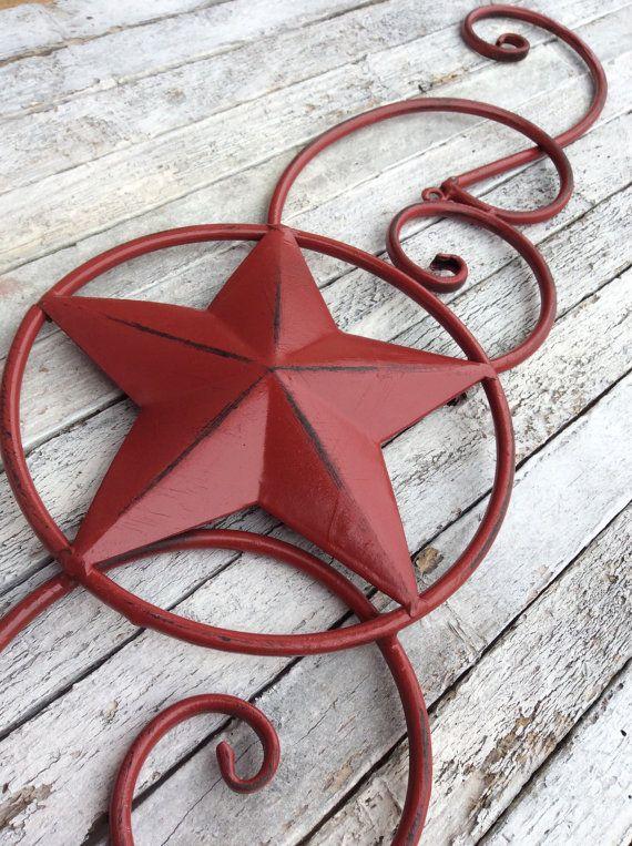 Metal Star Wall Decor, Red Home Decor, Texas Star, Bedroom Decor ...