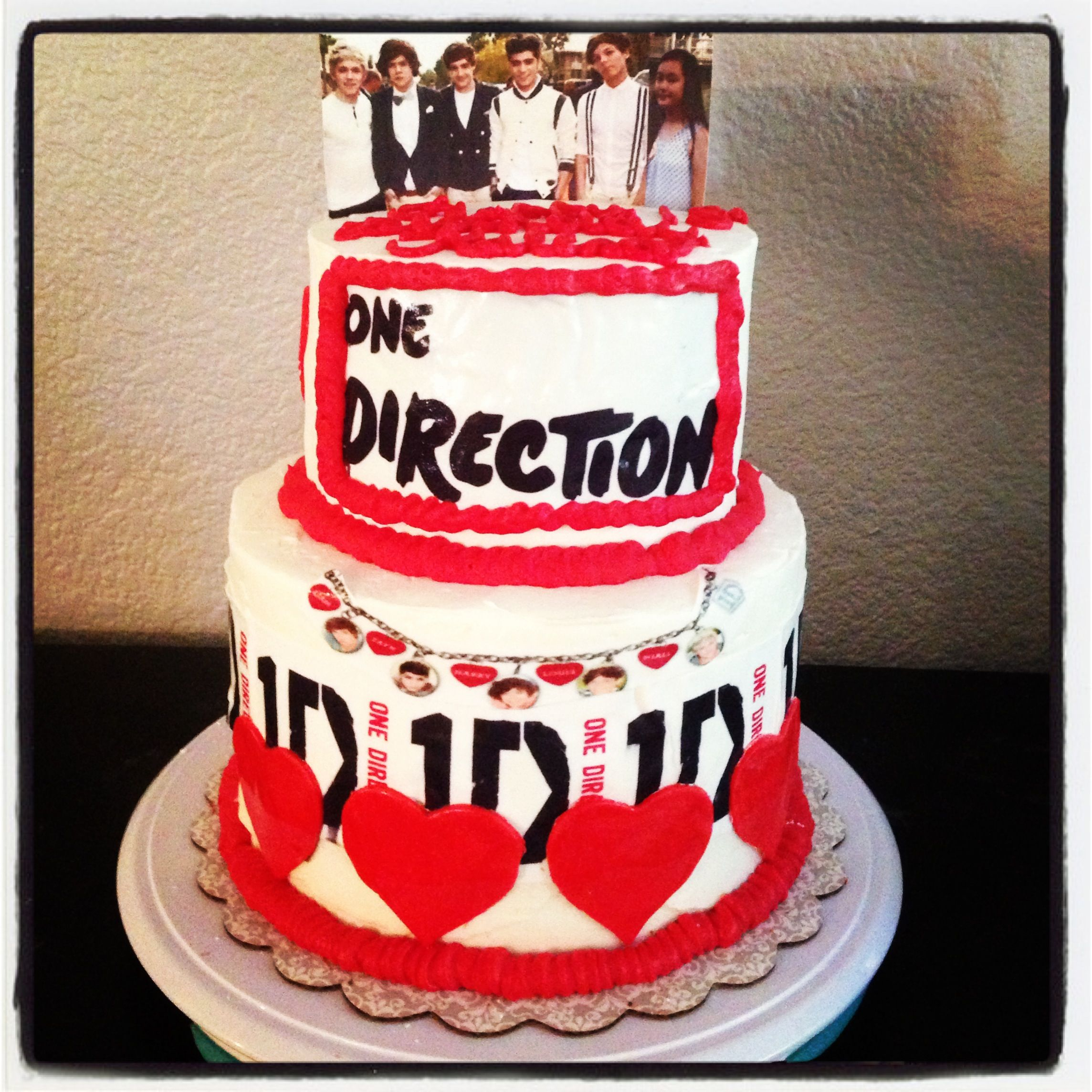 One Direction Cake 1d With Images One Direction Cakes Dessert