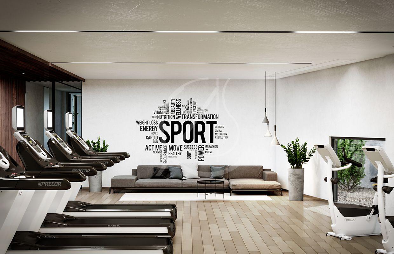 Ladies Modern Fitness Center Ceiling Design Fitness Center
