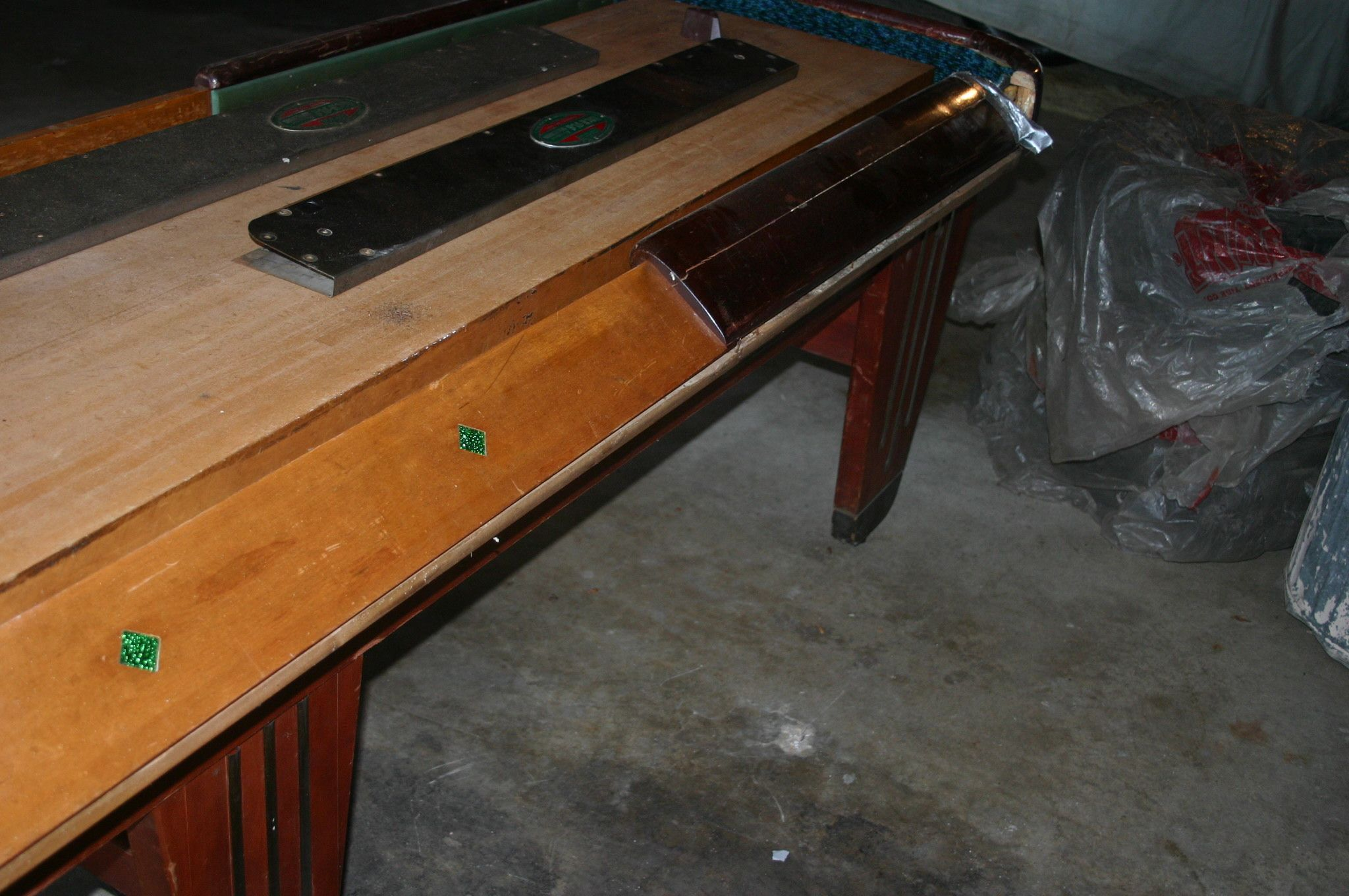 Good 1948 Rock Ola Shuffleboard Table   Needs To Be Restored!
